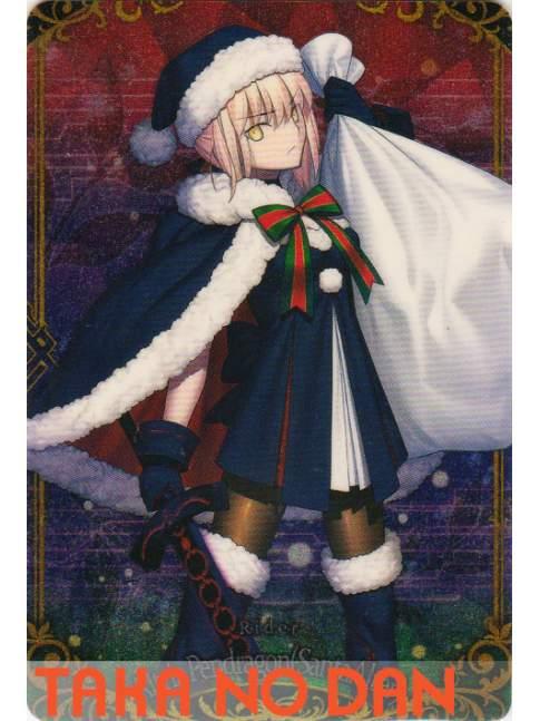 1 Tarjeta Wafer Fate Grand Order Vol.5 - Rider / Altria Pendragon Santa Alter