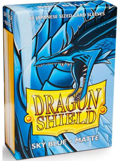60 Protectores Mini Mate Sky Blue Dragon Shield