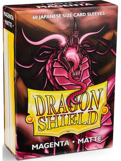 60 Protectores Mini Mate Magenta Dragon Shield