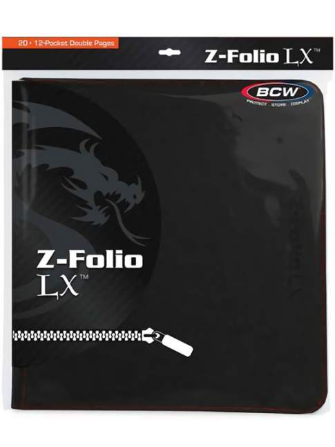 Carpeta para Cartas BCW Z-Folio 12-Pocket LX Album Black