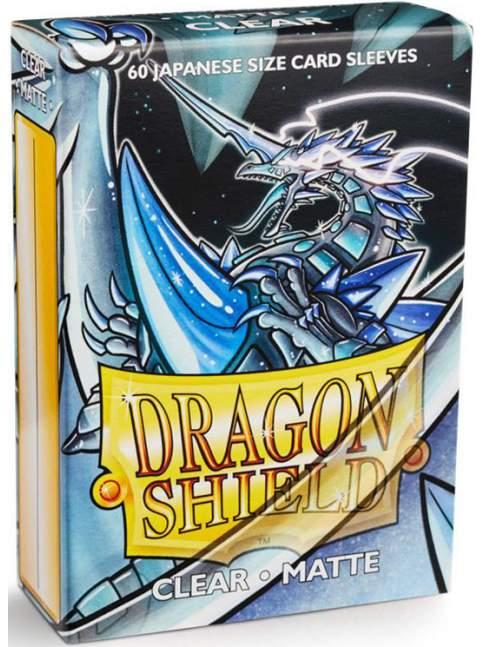 60 Protectores Mini / Japonés Mate Transparente Dragon Shield