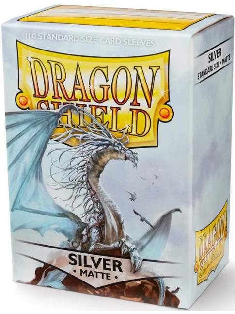 100 Protectores Estandar Mate Silver Dragon Shield