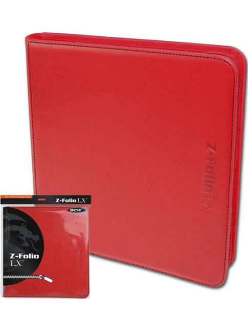 Carpeta para Cartas BCW Z-Folio 12-Pocket LX Album Rojo