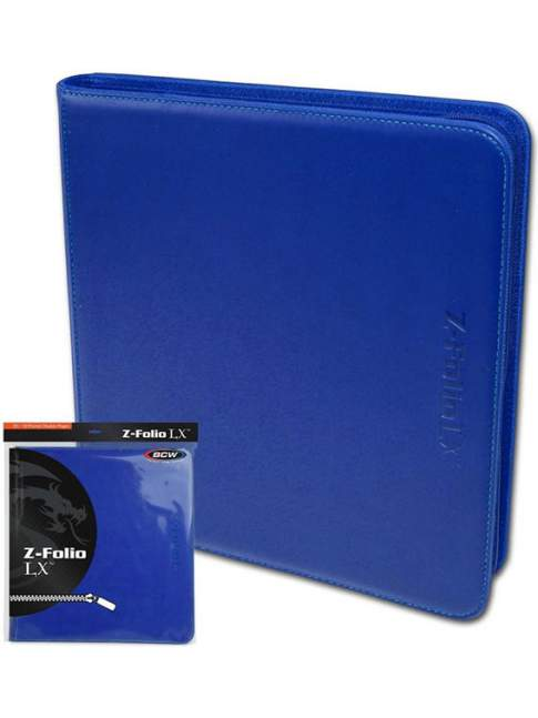 Carpeta para Cartas BCW Z-Folio 12-Pocket LX Album Blue