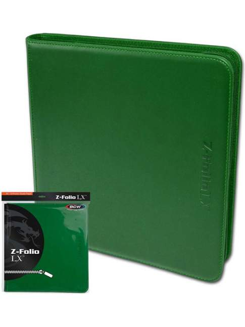 Carpeta para Cartas BCW Z-Folio 12-Pocket LX Album Green
