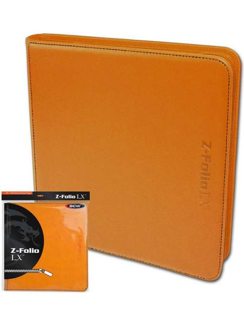 Carpeta para Cartas BCW Z-Folio 12-Pocket LX Album Orange