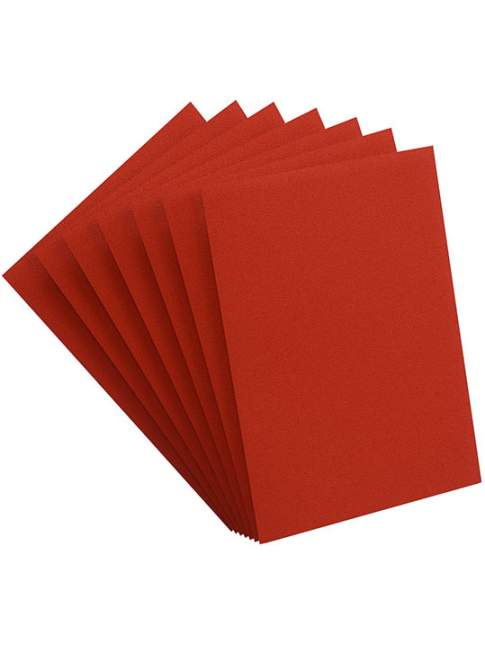 100 Protectores Estandar GameGenic PRIME Sleeves Red 66x91 MM