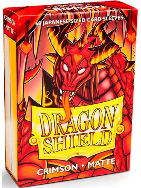 60 Protectores Mini / Japonés Mate Crimson Dragon Shield