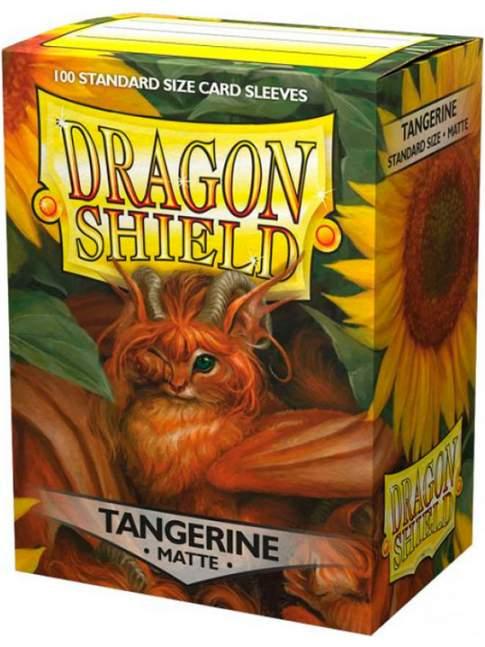 100 Protectores Estandar Mate Tangerine Dragon Shield