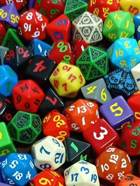 D% ROL Q Workshop Classic RPG Dado Colores Al Azar